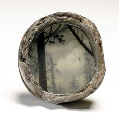 "Brooks Shan Salzwedel,   Hanged #1 2007 6"" Dia. graphite, resin, Pipe-end"