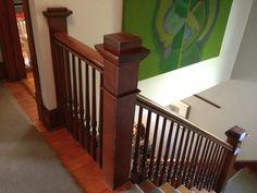 The newel posts inside are even prettier!