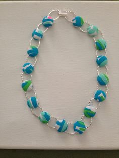 Lilly Pulitzer Turquoise High Beam Pattern Necklace on Etsy, $35.00