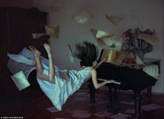 She's worked as a tattoo artist, modelled in Playboy magazine and sung in a rock-band, but now Anka Zhuravleva is making waves with her artistic photography. The 30-year-old Russian artist and photographer has released her latest photo-artwork series titled Distorted Gravity, which sees her models suspended in mid-air in dream-like sequences.