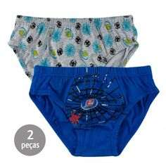 Cueca Infantil Aranha Kit 3 Peças - Everly :: 764 Kids | Roupa bebê e infantil