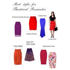 Theatrical Romantic skirt styles
