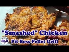 """""""Smashed"""" Chicken On The Pit Boss Pro Series 1100 Bbq Grill, Other Recipes, Kitchen Recipes, Grilling Recipes, Boss, Chicken, Cooking, Barbecue Pit, Cuisine"""