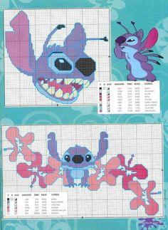 Disney's Stitch cross stitch pattern