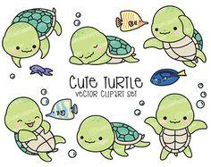 Premium Vector Clipart Kawaii Ooki the Owl Cute Owls Cute Turtle Drawings, Cute Animal Drawings, Kawaii Drawings, Cute Drawings, Doodles Kawaii, Cute Doodles, Cute Clipart, Vector Clipart, Kawaii Turtle