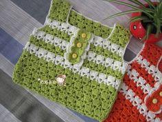Delicadezas en crochet Gabriela: Chalecos de bebè