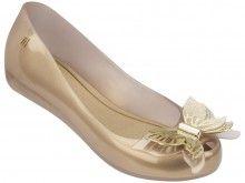 8eeee3783d1 Melissa zlaté baleríny Ultragirl Fly Pearlized Beige - 1820 Kč