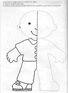 nice templete ~ felt book on dressing Preschool Writing, Preschool Learning, Learning Activities, Preschool Activities, Art Worksheets, Kindergarten Worksheets, Childhood Education, Kids Education, Art Drawings For Kids