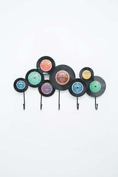 Kare Records Coat Hook - Urban Outfitters  What a way to recycle old records?