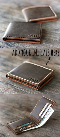 #mensfashion #mensstyle www.joojoobs.com  Personalized, full-grain leather wallet with hand stitched thread. The best accessory for both men and women. Crafted with love by joojoobs.com