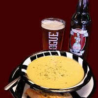 Great Lakes Brewing Co Stilton Cheddar Cheese Soup! Can't WAIT to make! Cheddar Cheese Soup, Beer Cheese Soups, Beer Recipes, Soup Recipes, Yummy Recipes, Recipies, Dinner Recipes, Easy Cooking, Rezepte