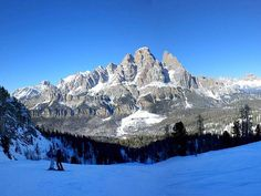 Cortina d'Ampezzo is the top ski destination of Italy.