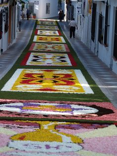Flower Carpet in Malaga, Spain.