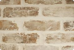DIY:  Believe it or not, but this is faux brick!  This tutorial will explain how to get this look.