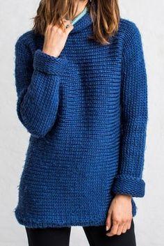 Kostenlose Anleitung für einen Pullover - #stricken #handarbeit #diy