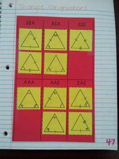 Kelsoe Math: Triangle Congruences (SSS, SAS, AAS, ASA, SSA & AAA)