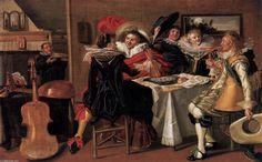 Dirck Hals (1591-1656, Dutch)  -Merry Company at Table