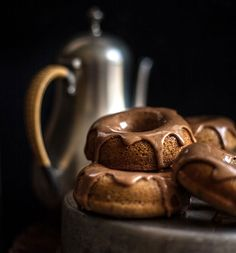 Oolong Donuts with a Milk Tea Glaze