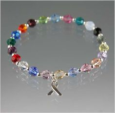 Cancer Awareness Bracelet - Exquisite Handcrafted Beaded Jewelry by Vael Designs