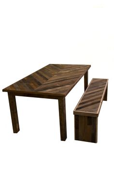 Lamon Luther chevron table
