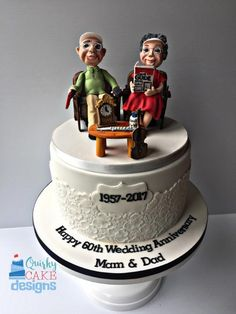 60th wedding anniversary by Claire Lynch - Quirky Cake Designs - http://cakesdecor.com/cakes/286596-60th-wedding-anniversary