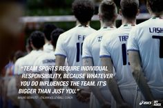 The Italian Volleyball Coach on responsibility. #betteryourbest