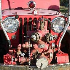 PTO driven pump on the front of a CJ-2A