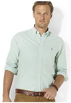Polo Ralph Lauren Shirt, Classic-Fit Solid Oxford Shirt - Casual Button-Down  Shirts - Men - Macy's