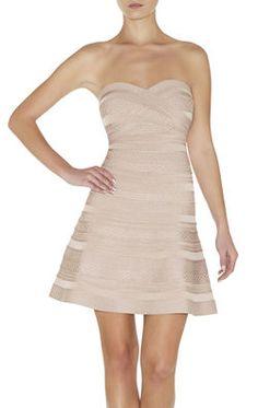 Akari Embossed-Texture Bandage Dress
