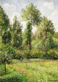 Camille Pissarro Poplars, Eragny Art Print by PDPress - X-Small Landscape Prints, Landscape Paintings, Impressionist Landscape, Art Paintings, Landscapes, Metropolitan Museum, Claude Monet, Camille Pissarro Paintings, Pissaro Paintings