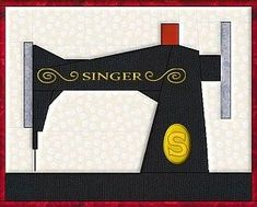 Sewing For Men Singer Sewing Machine paper pieced block. How hard is paper piecing? - A fun roundup of easy sewing projects and patterns for beginners. Lots of easy projects to try from clothing, to home decor, bags, stuff for kids and more. Paper Pieced Quilt Patterns, Quilt Block Patterns, Applique Quilts, Quilt Blocks, Pattern Paper, Mini Quilts, Small Quilts, Quilting Tutorials, Quilting Projects