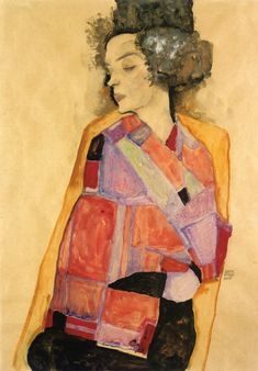 laflaneuse8: Egon Schiele, The Daydreamer (Gerti Schiele), 1911