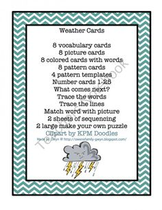Weather Friends Cards product from Preschool-Printable on TeachersNotebook.com