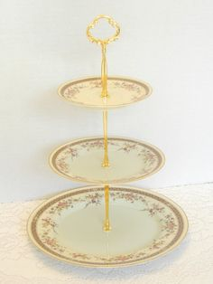 Dessert Stand, Mikasa, Cake Stand, Cupcake Stand, Ivory China, Vintage, Cookie Tray, Wedding, Appetizer Tray - Grande Ivory, Marquette