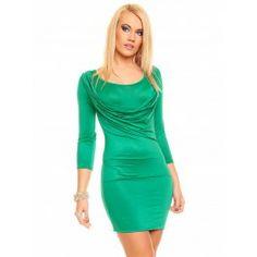 Vestido Corto Ajustado Verde Online MS751