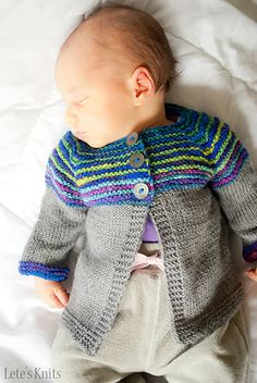 Ravelry: Linnie knit cardigan sweater pattern by Justyna Lorkowska; for newborns