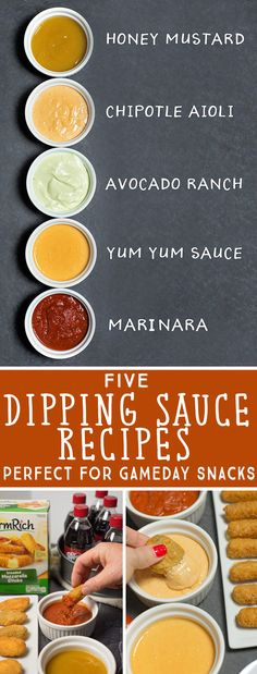 5 Easy Dipping Sauce Recipes in 5 Minutes