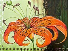 Tiger Lily par Shanna Trumbly Small toile giclée par ShannaTrumbly