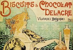 Biscuits and Chocolat Delacre by Henri Privat-Livemont (1861 - 1936)
