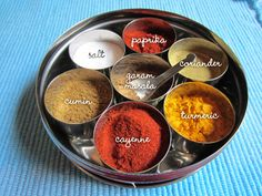 Love masala dabbas (Indian spice containers)