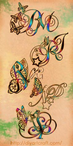 5 monograms #tattoo #butterfly
