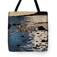 "Chocomount Beach in January Tote Bag 18"" x 18"""