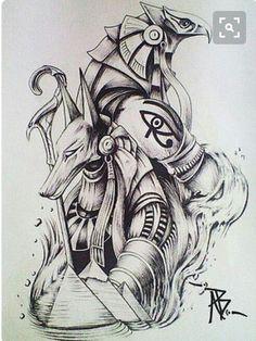 Anubis Tattoo, Osiris Tattoo, Horus Tattoo, Hamsa Tattoo, Gott Tattoos, Bild Tattoos, Neue Tattoos, Body Art Tattoos, Sleeve Tattoos