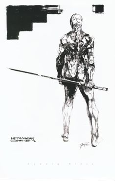 Metal Gear Solid Concept Art - Greyfox Concept Art
