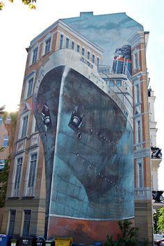 ship ahoy - sidewalk art