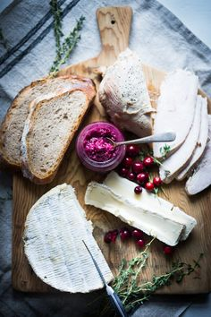 Grilled Brie, Turkey and Cranberry Mustard Sandwiches