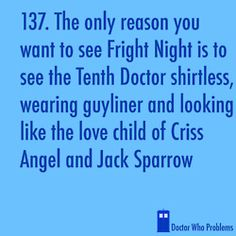 From the archives of the Timelords and doctorwhoproblems