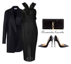 """Black"" by romaritasenorita ❤ liked on Polyvore featuring Ann Demeulemeester, Robert Rodriguez, Christian Louboutin and Yves Saint Laurent"