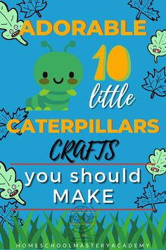 Does your child love the ten little caterpillars? Or are they just learning to count? These crafts are the perfect additions to the book! #preschoolers #preschoolcrafts #craftsforkids #homeschool