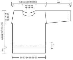 """Sigrid / DROPS 166-18 - Jersey de punto DROPS con falso raglán, abertura y patrón de relieve en los hombros y las mangas en """"Air"""". Talla: S - XXXL. - Free pattern by DROPS Design"""